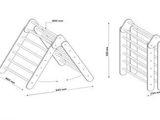 fabrication tiangle de Pikler